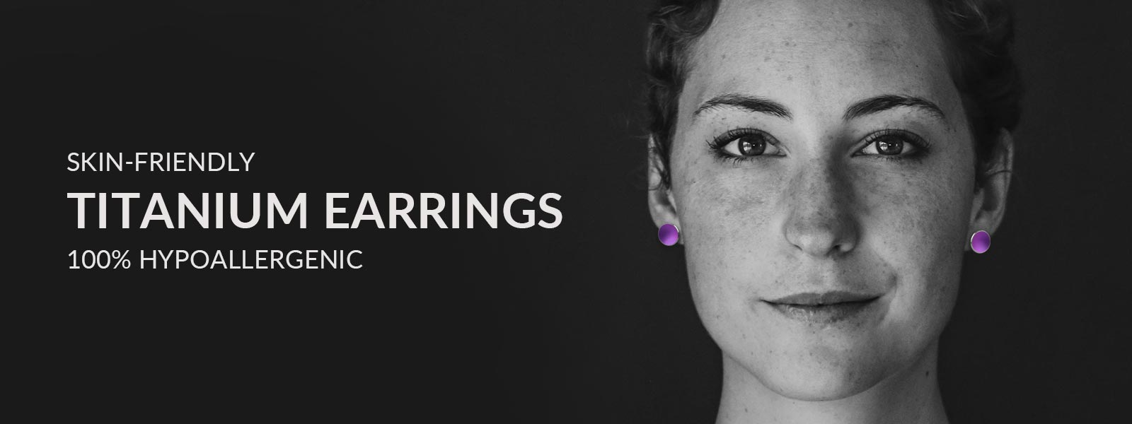 Beautiful girl wearing hypoallergenic titanium earrings